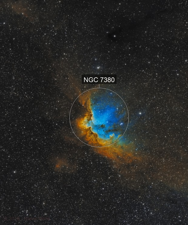 Wizard Nebula in Cepheus - SHO (Hubble Palette)