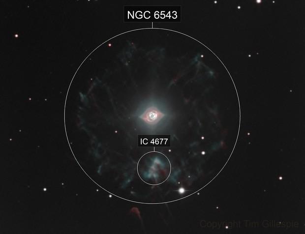 NGC 6543 Cat's Eye Nebula in HOO