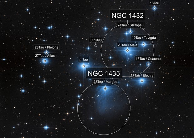M45 Pleiades Star Cluster