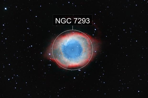 Helix Nebula Bicolor