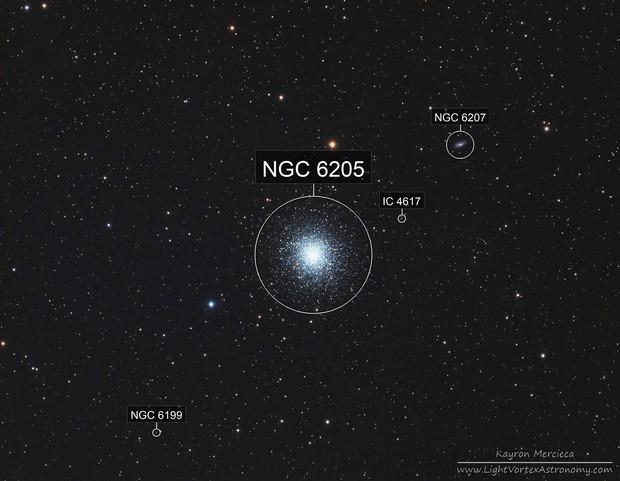 M13 Great Globular Cluster in Hercules in LRGB