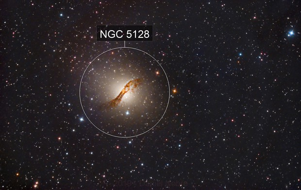 NGC 5128 - Centaurus A - 3 hours of subs @ QHY8L :-)