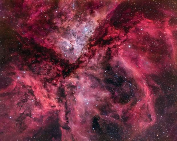 Eta Carinae acquired by Martin Pugh - RH 305 Telescope HaRGB :-)
