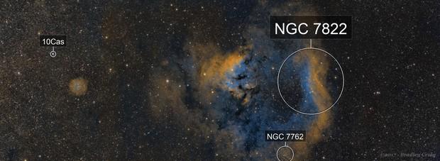 NGC 7822 - Sii, Ha, Oiii 4 Panel Mosaic