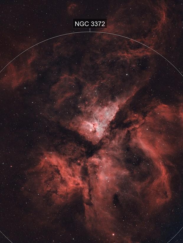 Carina Nebula NGC3372 HOO