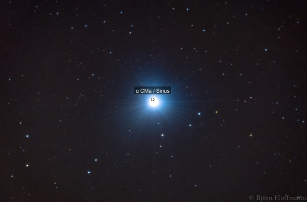 Sirius (first guiding experiments)
