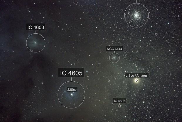 Antares Nebula Cloud Widefield, Cederblad 132