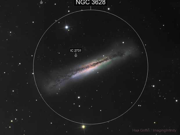 NGC 3628 - The Hamburger Galaxy