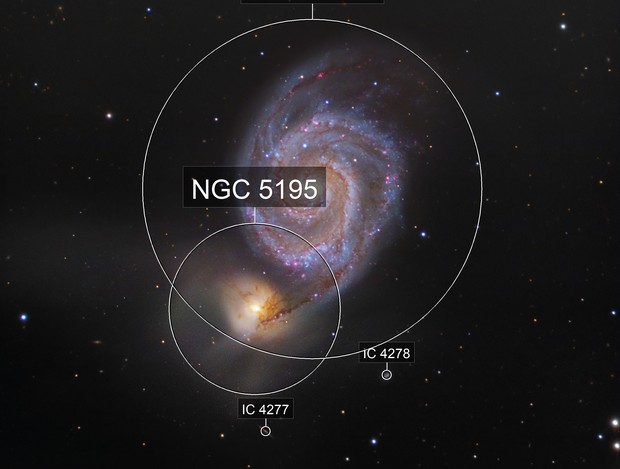 M51 Galaxy, a LRHaGB picture