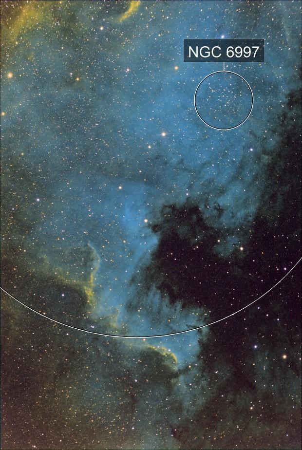 North America Nebula in SHO