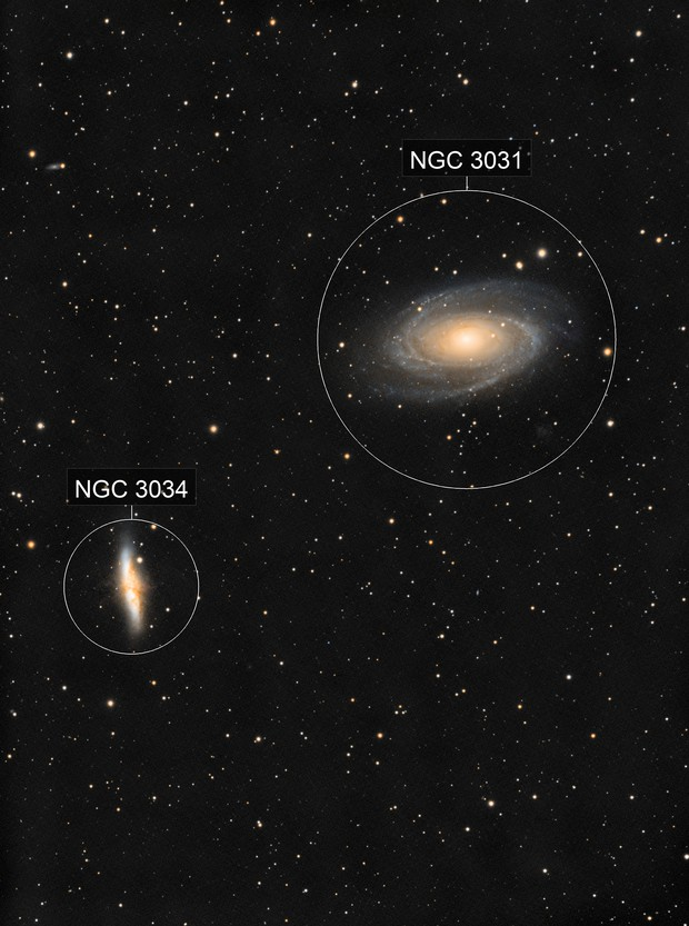 M 81 and M 82, first complete test with ZWO ASI 1600 mono