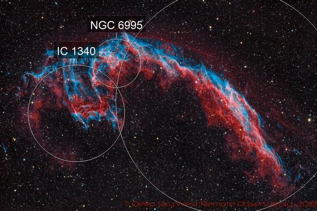 Veil Nebula HORGB - Deep Sky West Remote Observatory