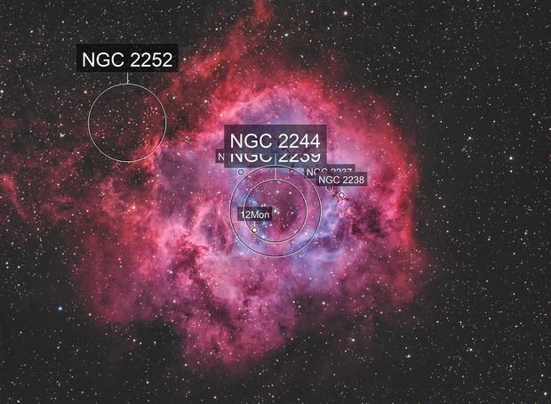 The Rosette Nebula NGC 2237-9,NGC 2246 HOO(+SHO20%)+RGB(StarColor)