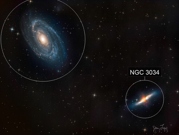 Bodes Nebula and Cigar Galaxy (M81 and M82)
