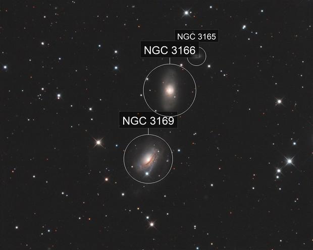 NGC3169 and NGC3166 LRGB