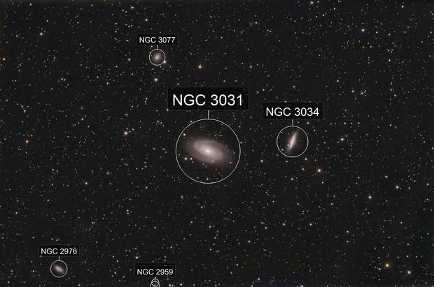 Bodes Nebula and Friends