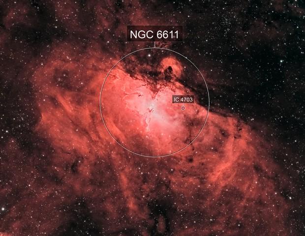 Messier 16 - Eagle Nebula Bi-Color