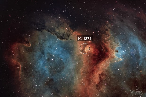 Rift in the Soul  (Sh2-199 and IC 1871 )