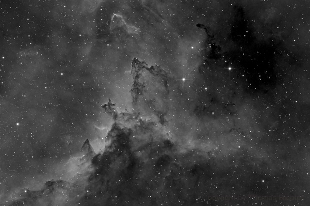 Dust lanes of the Heart Nebula