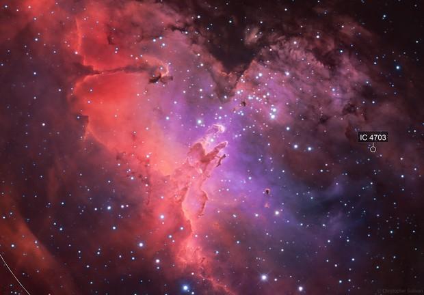 M16: Eagle Nebula (Ha-SII/OII-SII/OIII)