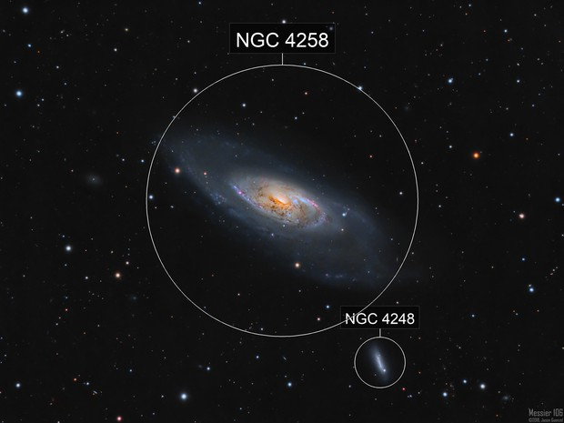 M106 - A Nearby Seyfert Galaxy