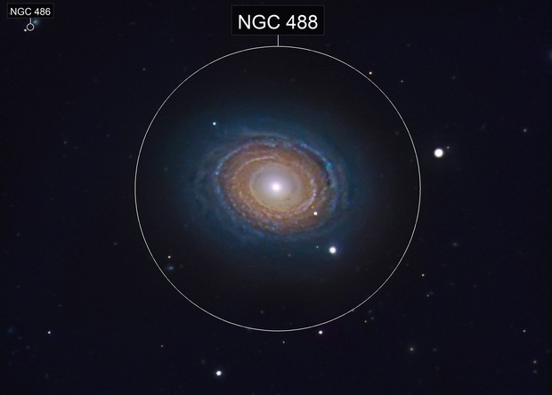 NGC 488 Spiral in Pisces