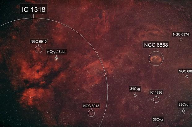Sadr / Cygnus Butterfly / Gamma Cygni / Crescent w/ DSLR