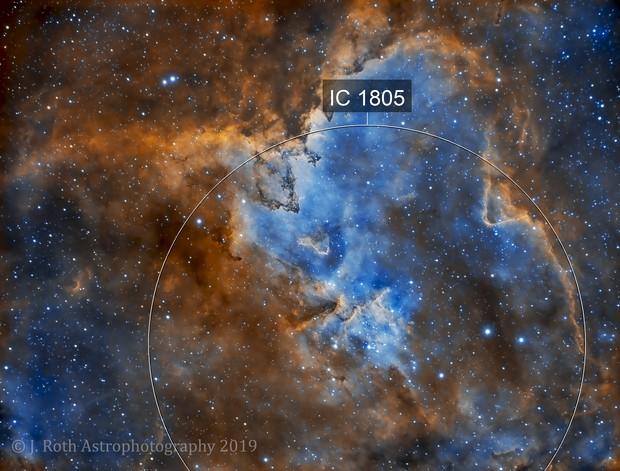 IC 1805 - The Heart Nebula - Ha/OIII