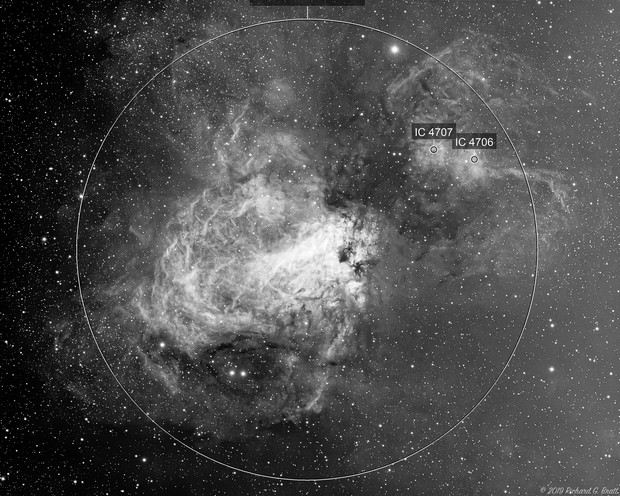 M17 - Omega (aka Swan) Nebula in Ha (2 data sets)