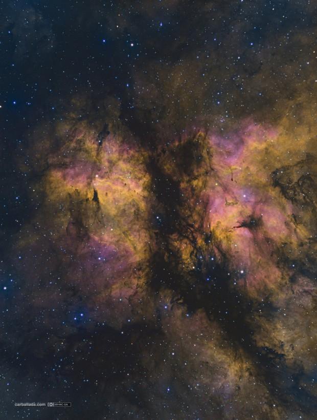 Gamma Cygni nebula east (Sh2-108) in HSOrgb