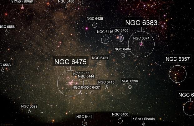 Region of the Scorpius-Sagittarius Milky Way