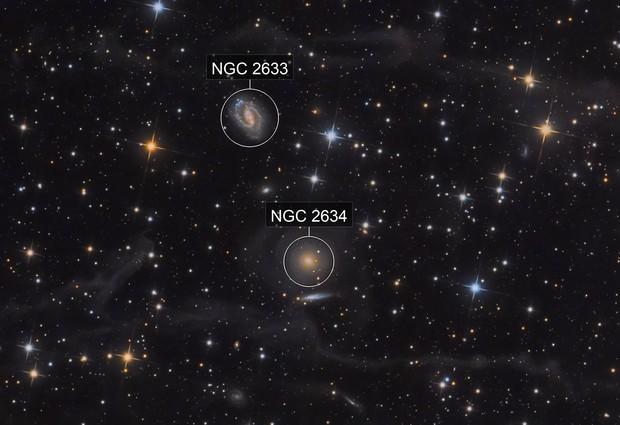 NGC 2634, NGC 2634 and wisps of IFN