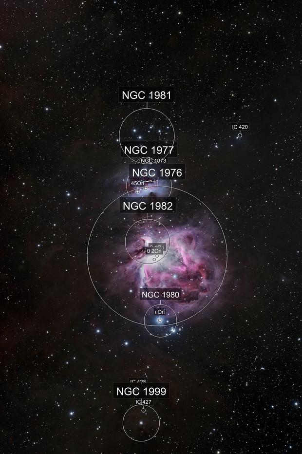 M42 - The running man; La grande nebulosa di Orione