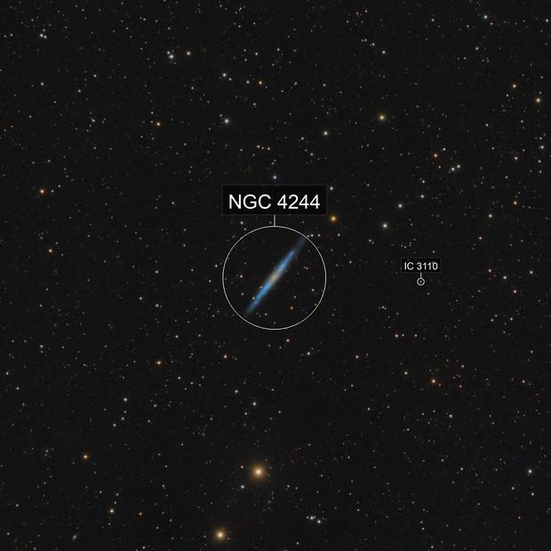 NGC4244 Needle galaxy