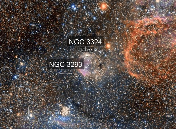 "A look at NGC 3324 - Gabriela Mistral Nebula - 5x600"""