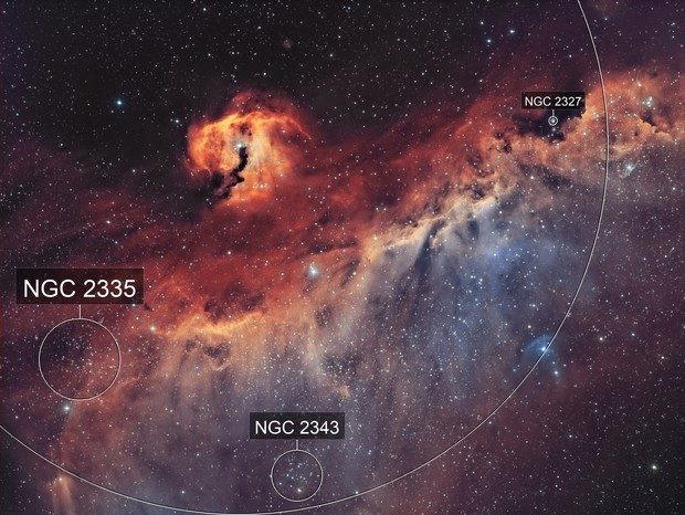 Ic 2177- la nébuleuse de la mouette HOO