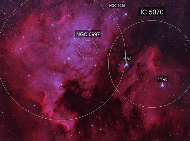North America Nebula & Pelican Nebula (Ha)