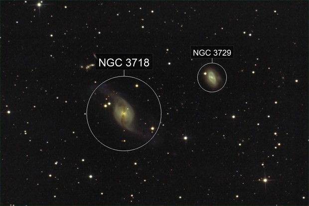 NGC  3718 & Hicksen 56A