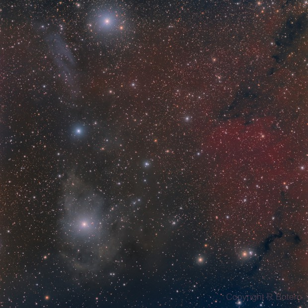 vdB 14, 15 and Sh2-202 in Camelopardalis