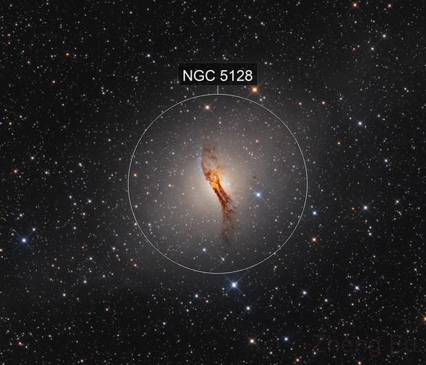 NGC 5128 Centaurus A - LRGB