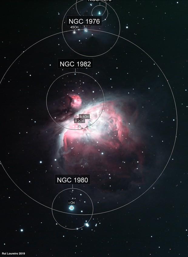 M42 and Running Man nebulas