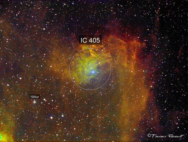 IC 405 Flaming Star Nebula in Auriga