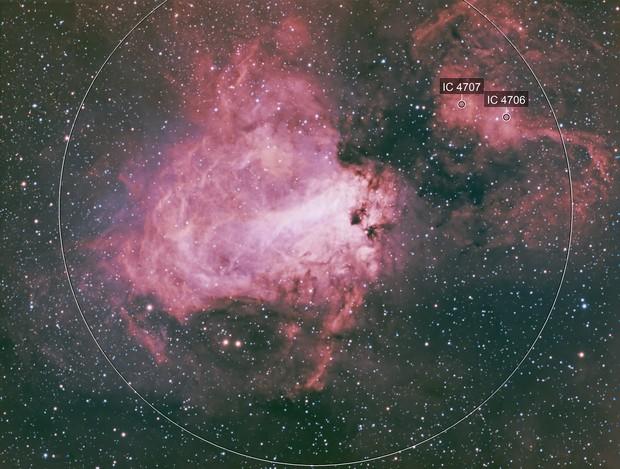 Messier 17 - HOO + LRGB
