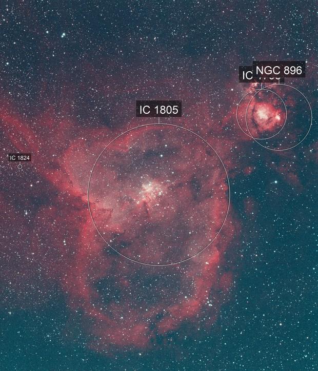 Heart Nebula - Quick Color combination of Ha & Oiii data