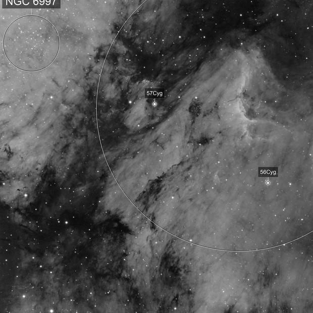IC5070 Pelican nebula in Ha