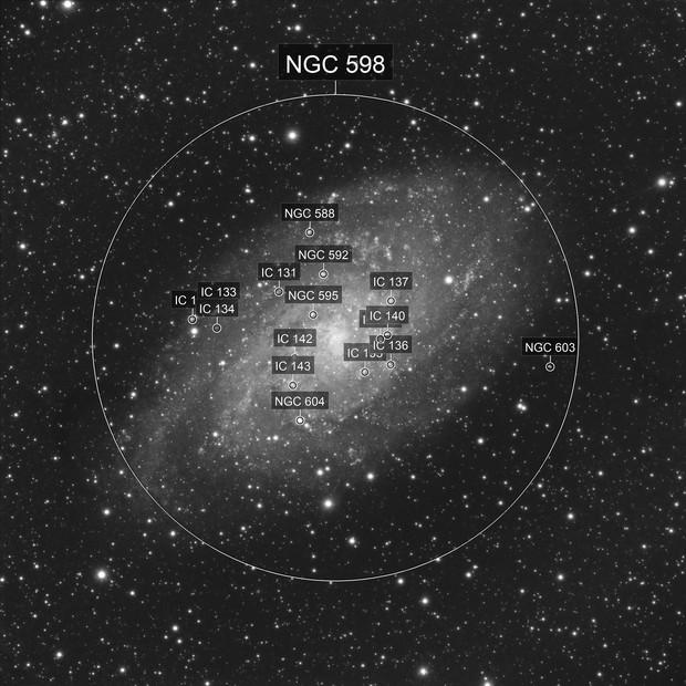 M33 Luminance