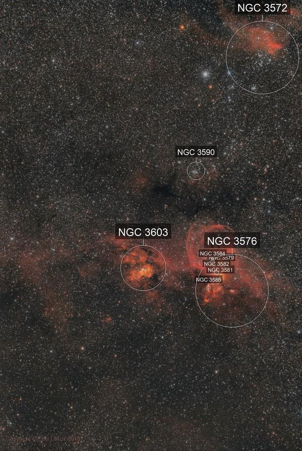 NGC 3576 The Statue of Liberty Nebula  zone