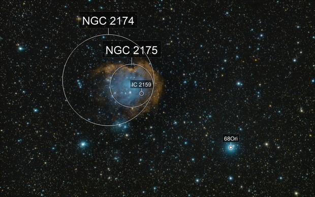 NGC 2175 DSLR Hubble Palette