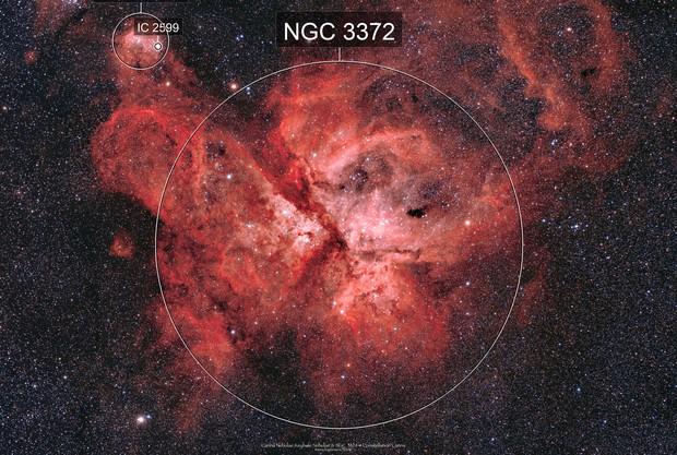 Carina & Key hole Nebulae complex NGC 3372
