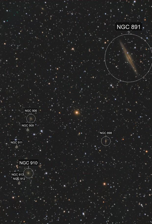 NGC891 vs Abell347